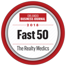 Contact the Realty Medics, who is one of  2018 Orlando Business Journal Fast 50, as shown in this logo