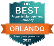 Contact the Realty Medics, who is one of  2019 Best Property Management Company in Orlando from PropertyManagement.com, as shown in this logo